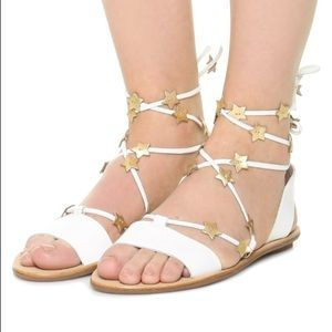 💙Loeffler Randall Leather Star Lace Sandal $195!